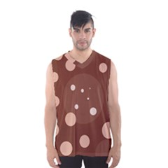 Brown Abstract Design Men s Basketball Tank Top by Valentinaart