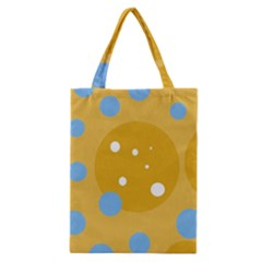 Blue And Yellow Moon Classic Tote Bag by Valentinaart