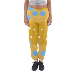 Blue And Yellow Moon Women s Jogger Sweatpants by Valentinaart