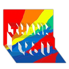 Colorful Abstract Design Thank You 3d Greeting Card (7x5)  by Valentinaart
