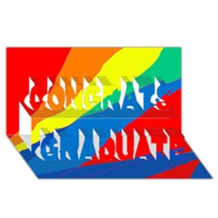 Colorful Abstract Design Congrats Graduate 3d Greeting Card (8x4)  by Valentinaart