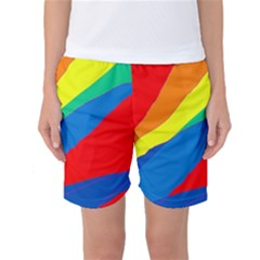 Colorful Abstract Design Women s Basketball Shorts by Valentinaart