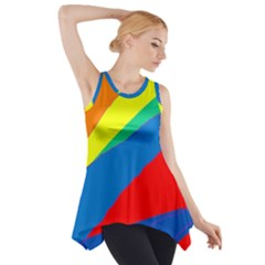 Colorful Abstract Design Side Drop Tank Tunic by Valentinaart