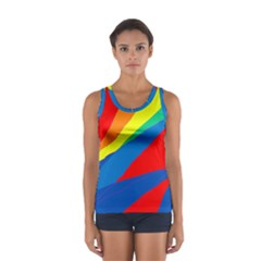 Colorful Abstract Design Women s Sport Tank Top  by Valentinaart