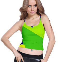 Colorful Abstract Design Spaghetti Strap Bra Top by Valentinaart
