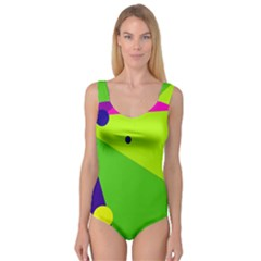 Colorful Abstract Design Princess Tank Leotard  by Valentinaart