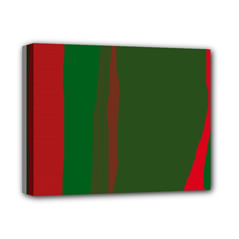 Green And Red Lines Deluxe Canvas 14  X 11  by Valentinaart
