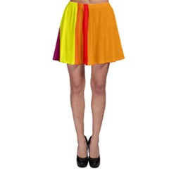 Hot Colorful Lines Skater Skirt by Valentinaart