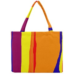 Hot Colorful Lines Mini Tote Bag by Valentinaart