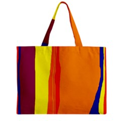 Hot Colorful Lines Zipper Mini Tote Bag by Valentinaart