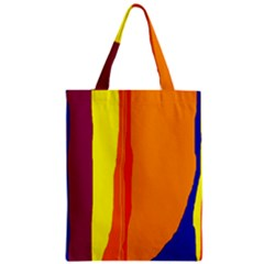 Hot Colorful Lines Zipper Classic Tote Bag by Valentinaart