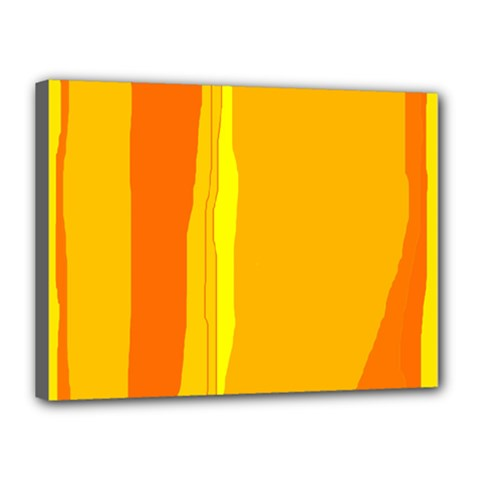 Yellow And Orange Lines Canvas 16  X 12  by Valentinaart