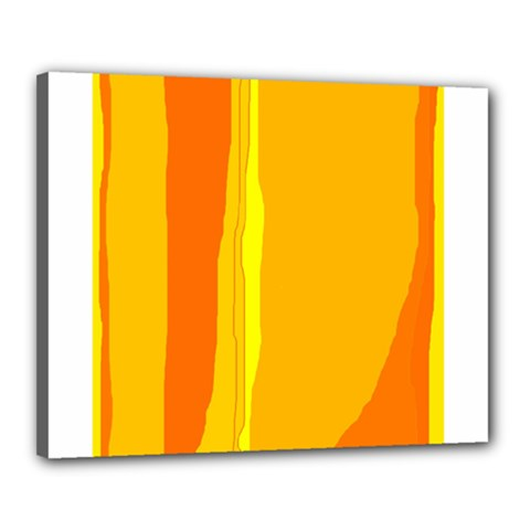 Yellow And Orange Lines Canvas 20  X 16  by Valentinaart