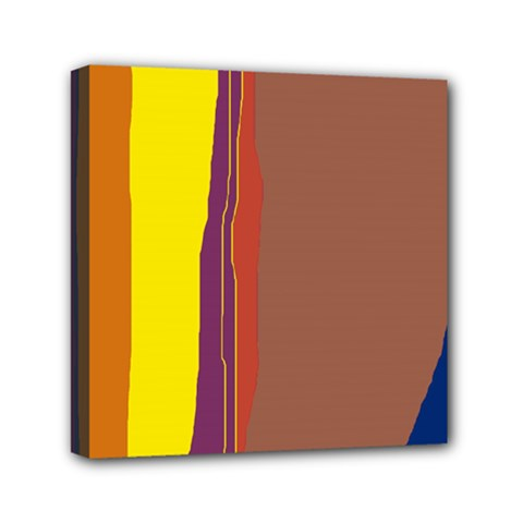 Colorful Lines Mini Canvas 6  X 6  by Valentinaart