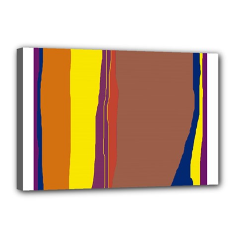 Colorful Lines Canvas 18  X 12  by Valentinaart