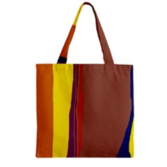 Colorful Lines Zipper Grocery Tote Bag by Valentinaart