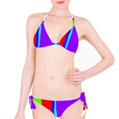 Colorful Decorative Lines Bikini Set by Valentinaart