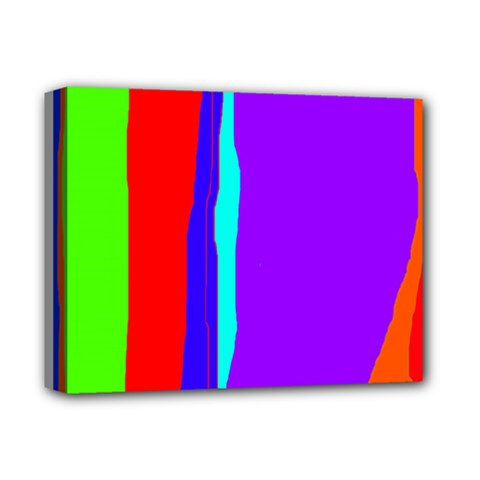 Colorful Decorative Lines Deluxe Canvas 14  X 11  by Valentinaart