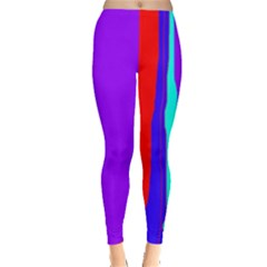 Colorful Decorative Lines Leggings  by Valentinaart