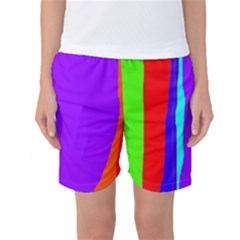 Colorful Decorative Lines Women s Basketball Shorts by Valentinaart