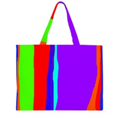 Colorful Decorative Lines Zipper Large Tote Bag by Valentinaart