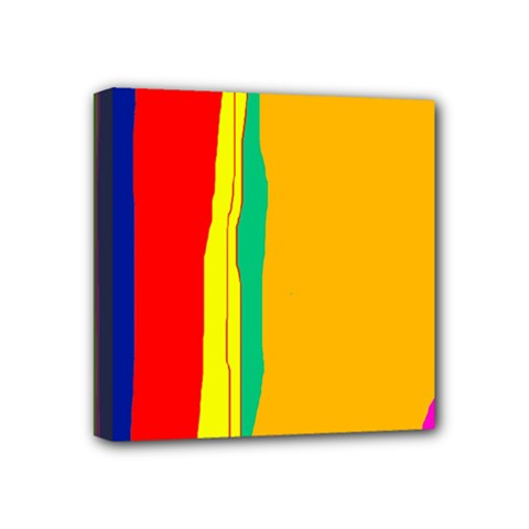 Colorful Lines Mini Canvas 4  X 4  by Valentinaart
