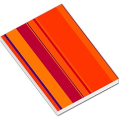 Orange Lines Large Memo Pads by Valentinaart