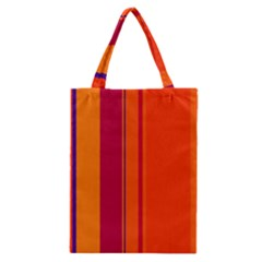 Orange Lines Classic Tote Bag by Valentinaart