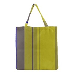 Green Elegant Lines Grocery Tote Bag by Valentinaart