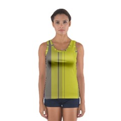 Green Elegant Lines Women s Sport Tank Top  by Valentinaart