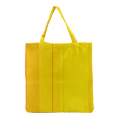 Yellow Lines Grocery Tote Bag by Valentinaart