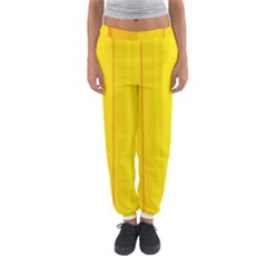 Yellow Lines Women s Jogger Sweatpants by Valentinaart