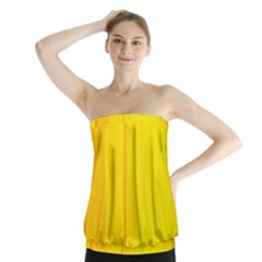 Yellow Lines Strapless Top by Valentinaart