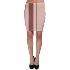 Elegant Brown Lines Bodycon Skirt by Valentinaart
