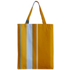 Yellow Elegant Lines Zipper Classic Tote Bag by Valentinaart