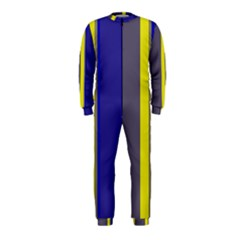 Blue And Yellow Lines Onepiece Jumpsuit (kids) by Valentinaart