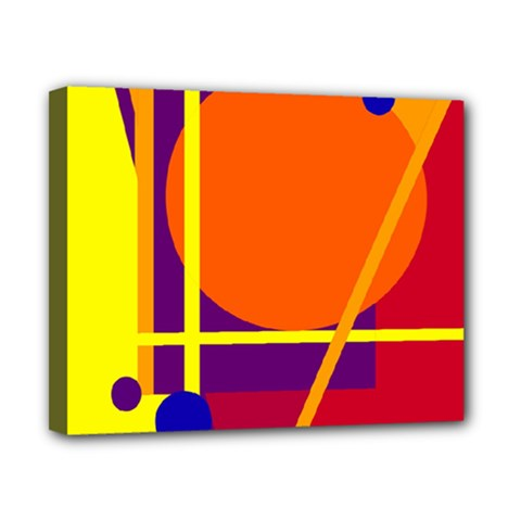 Orange Abstract Design Canvas 10  X 8