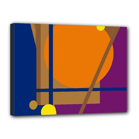 Decorative Abstract Design Canvas 16  X 12  by Valentinaart