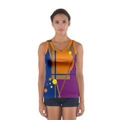 Decorative Abstract Design Women s Sport Tank Top  by Valentinaart