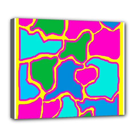 Colorful Abstract Design Deluxe Canvas 24  X 20   by Valentinaart