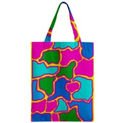 Colorful Abstract Design Zipper Classic Tote Bag by Valentinaart