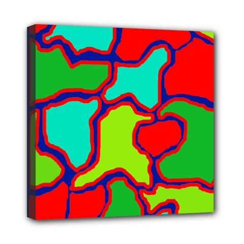 Colorful Abstract Design Mini Canvas 8  X 8  by Valentinaart