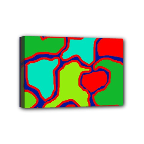 Colorful Abstract Design Mini Canvas 6  X 4  by Valentinaart