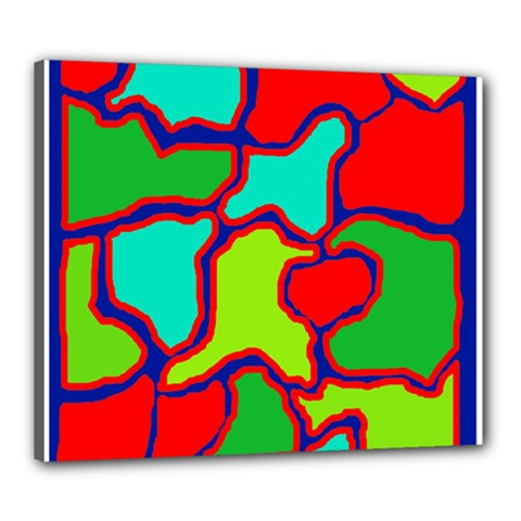 Colorful Abstract Design Canvas 24  X 20  by Valentinaart