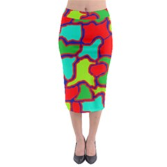 Colorful Abstract Design Midi Pencil Skirt by Valentinaart
