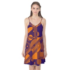Blue And Orange Abstract Design Camis Nightgown by Valentinaart