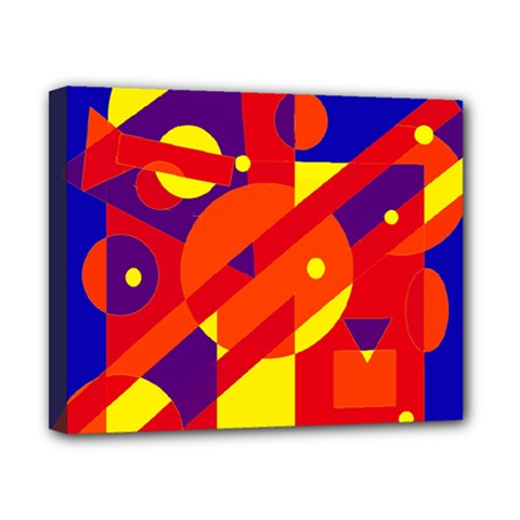 Blue And Orange Abstract Design Canvas 10  X 8  by Valentinaart