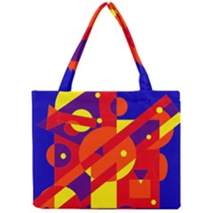 Blue And Orange Abstract Design Mini Tote Bag by Valentinaart
