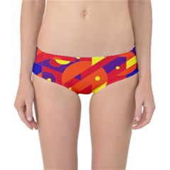 Blue And Orange Abstract Design Classic Bikini Bottoms by Valentinaart