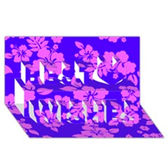 Hawaiian Evening Best Wish 3d Greeting Card (8x4)  by AlohaStore